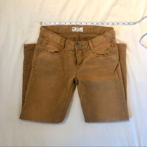 Free People Brown Skinnies